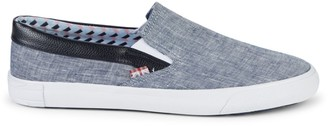 Ben Sherman Percy Faux Leather-Trimmed Slip-On Sneakers