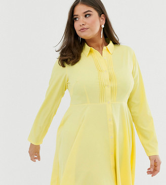 Unique21 Hero pleated front shirt dress