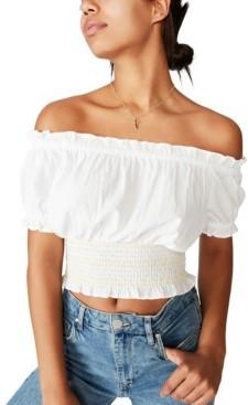 Cotton On Sunset Shirred Off Shoulder Top