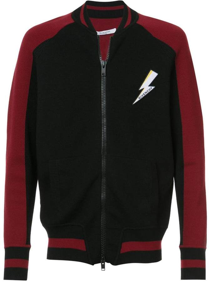 Givenchy logo patch bomber jacket