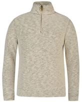 Ocean Pacific Mens Quarter Zip Waffle Sweat Pullover Long Sleeve High Neck Top