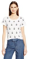 French Connection Women's All Over Anchor T-Shirt