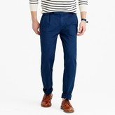 J.Crew Wallace & Barnes double-pleated relaxed-fit military chino pant