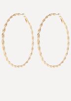 Bebe Twisted Hoop Earrings