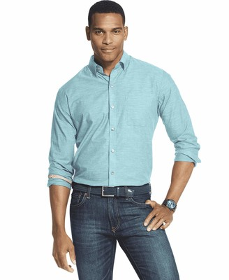 Van Heusen Men's Tall Air Long Sleeve Button Down Shirt