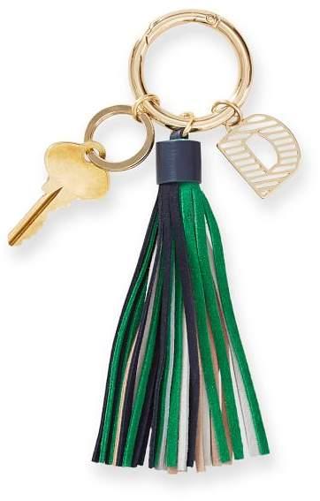 Mark And Graham Initial Tassel Keychain