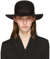 Yohji Yamamoto Black Wool Blocking Hat