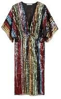 Mango MANGO Side slit sequined gown