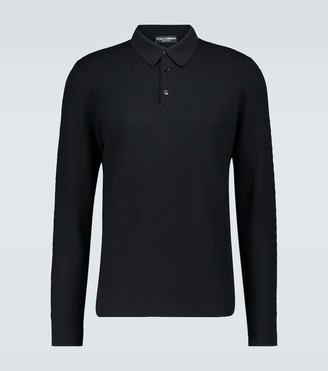 Dolce & Gabbana Long-sleeved knitted polo shirt