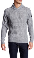 Ben Sherman Texture Shawl Collar Knit Sweater