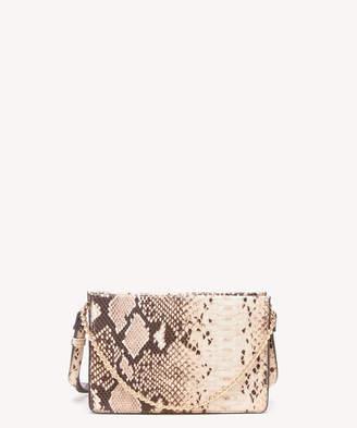 Sole Society Women's Gigi Crossbody Vegan Bag Leather Blush Snake Vegan Leather From