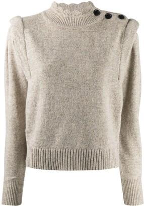 Etoile Isabel Marant Meery pintucked wool jumper