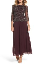 Pisarro Nights Women's Embellished Bodice Overlay Gown