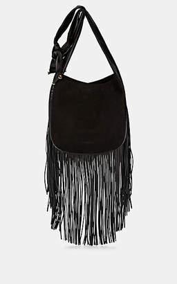 Françoise Women's Fringe Suede & Leather Hobo Bag - Black