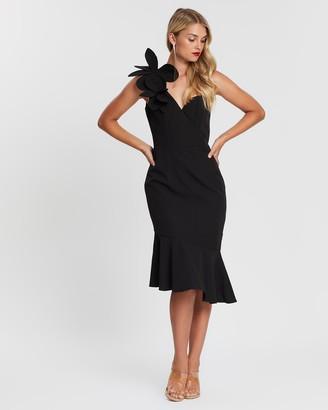 Bariano Ella Flower One-Shoulder Dress