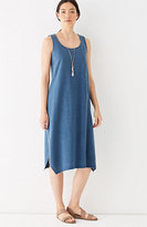J. Jill Pure Jill Indigo Knit Dipped-Hem Dress