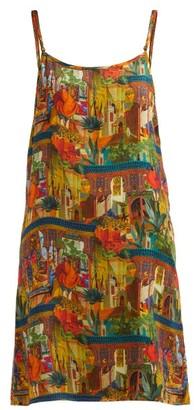 CHUFY Riad Reversible Slip Dress - Brown Multi