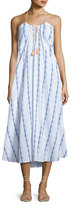 Heidi Klein Folly Island Tassel-Tie Maxi Dress, White