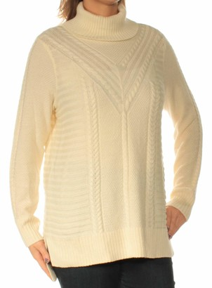 Kensie Women's Cable Knit Turtleneck Sweater