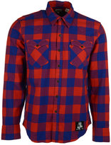 Levi's Men's New England Patriots Plaid Button-Up Shirt