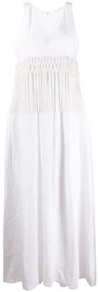 Fabiana Filippi Tassel-Trimmed Maxi Dress
