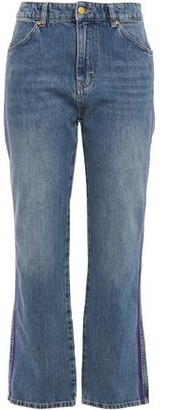 Victoria Victoria Beckham Victoria, Victoria Beckham Cropped High-rise Straight-leg Jeans