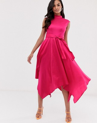 Closet London Closet handkerchief point hem dress-Pink