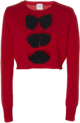Madeleine Thompson Vulcan Bow-Embellished Cashmere Sweater