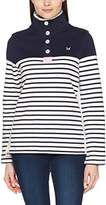 Crew Clothing Women's 1/2 Button Sweat Sweatshirt