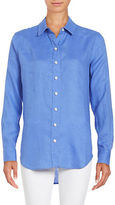 Lord & Taylor Plus Long-Sleeve Linen Shirt