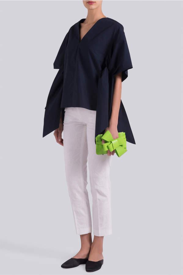 DELPOZO Bow Shirt Blouse