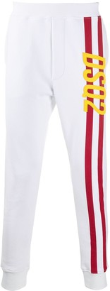 DSQUARED2 Stripe-Side Skinny Tapered Track Pants