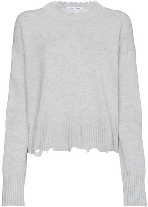 Helmut Lang Distressed Knit Cotton Jumper