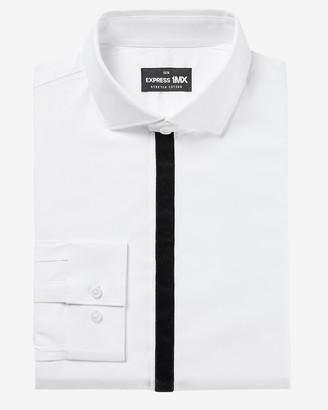 Express Slim Taped Tuxedo 1Mx Dress Shirt
