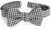 David Donahue Houndstooth Silk Bow Tie