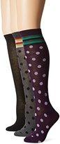 Steve Madden Women's Knee-High Socks (Pack of Three Pairs0