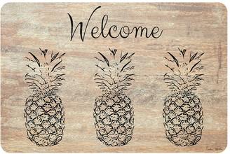 """Welcome"" Pineapple Neoprene Kitchen Mat - 22"" x 31"""