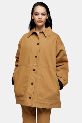 Topshop Womens **Camel Swing Shacket By Camel