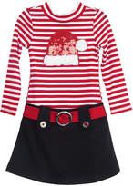 LILT Lilt Long Sleeve Drop Waist Dress - Preschool Girls