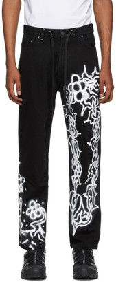 Liam Hodges Black Alfie Kungu Edition Chain Jeans