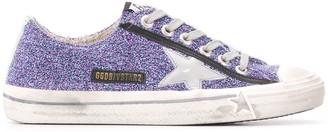 Golden Goose V-STAR glitter sneakers