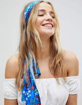 Asos Blue Floral Headscarf