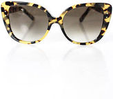 Selima Yellow Brown Plastic Adri-O Tokyo Tortoise Sunglasses New $385