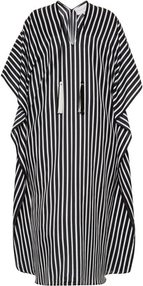 Marie France Van Damme Striped Cotton-Silk Boubou