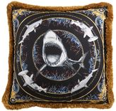 Versace Bruce Shark Printed Silk Accent Pillow