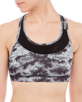 Reebok Grey Camouflage Renew Sports Bra