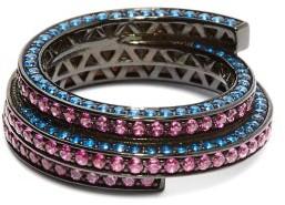 Lynn Ban - Sonic Lab-sapphire & Rhodium-plated Ring - Pink