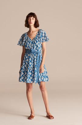 Rebecca Taylor Perla Petal Flutter Sleeve Dress