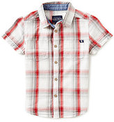 Lucky Brand Little Boys 4-7 Overflow Plaid Short-Sleeve Poplin Shirt