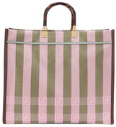 Fendi Sunshine stripes shopping bag